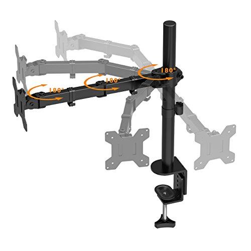 "41x6l6VqtUL - 1home Single Arm Desk Mount Ergonomic LCD LED Computer Monitor Bracket Stand Tilt Swivel Rotation 13""-32"" Screen TV | VESA Dimensions: 75x75-100x100"