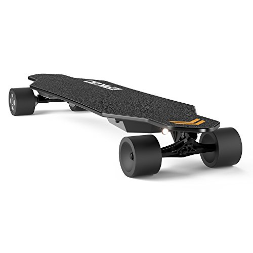 EPIKGO Electric Longboard Skateboard with Dual-Motor Smart Skateboards [7 Ply Bamboo Board] and Wireless Remote - Portable Cruiser Skate Board for Rider, Kids and Adults -Great For Outdoor Activities