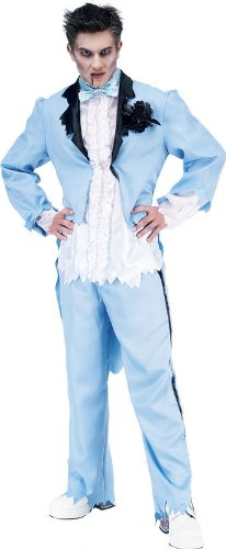 Paper Magic Men's Zombie Prom King-2 Costume, Blue/White, M