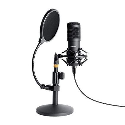 USB-Streaming-Podcast-PC-Microphone-SUDOTACK-Professional-96KHZ24Bit-Studio-Cardioid-Condenser-Mic-Kit-with-Sound-Card-Desktop-Stand-Shock-Mount-Pop-Filter-for-Skype-Youtuber-Gaming-Recording