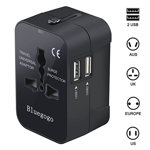 Bluegogo Travel Adapter,Universal All in One Worldwide Travel Adapter Wall...
