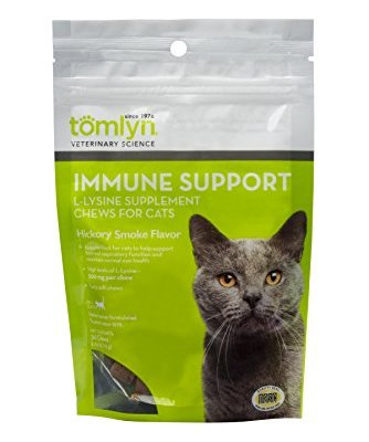 Tomlyn Immune Support Daily L-Lysine Supplement, Fish-Flavored...