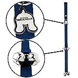Mighty Paw Tinkle Bells, Premium Quality Dog Doorbells, Housetraining Doggy Door Bells for Potty Training (Blue)