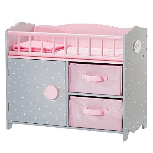 Olivia's Little World - Polka Dots Princess 18' Baby Doll Wooden Crib