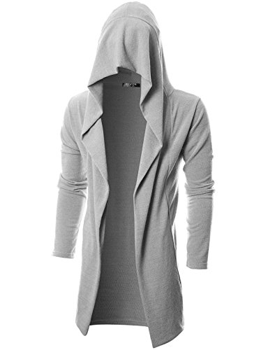 GIVON Mens Long Sleeve Draped Lightweight Open Front Longline Hooded Cardigan 1 Fashion Online Shop gifts for her gifts for him womens full figure