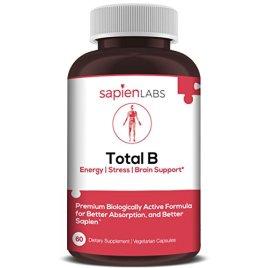 Vitamin B Complex -Made in USA- Vitamins B12, B1, B2, B3, B5, B6, B7, B9, Folate, Methylcobalamin, Biotin, 5-MTHF -Boost Energy, Brain & Metabolism -Premium Vegetarian Supplement by Sapien Labs