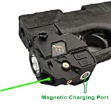 Infilight Green Laser Sight, Compact Green Laser Dot Sight Scope Adjustable Low Profile Picatinny Rail Mount Laser Sight with Rechargeable Battery Pistols & Handguns (CL103G Green Laser)