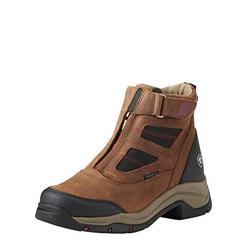 Ariat Women's Terrain Pro Zip H2O Work Boot, Brown, 10 B US
