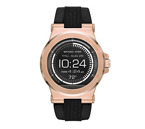 81IXoVrD PL Featured in rose goldtone/black Smart watch Compatible with: Android Devices 4.3+, iOS 8+ / iPhone 5 +, iOS 7+ / iPhone 4s+