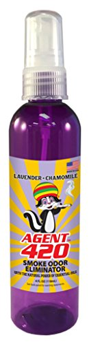 Agent 420 -  4 oz Cannabis Odor Destroying Spray for Eliminating Pot Smoke, Cigarette Smoke or Most Unwanted Odors in Your House, Car or Apartment, So Freshen Up The 'Joint!' [Lavender]