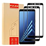 [2-Pack] Pulen Screen Protector for Samsung Galaxy A8+ 2018,HD Anti-fingerprints Anti-Scratch Bubble Free 9H Hardness Tempered Glass for Galaxy A8 Plus 2018 (Black)