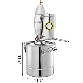 VEVOR-110V-Water-Alcohol-Distiller-20L-528-Gal-Moonshine-Wine-Making-Boiler-Home-Kit-304-Stainless-Steel-with-Thermometer-Perfect-for-Whiskey-Brandy-Sliver