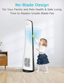 BREEZEWELL-43-Inch-Bladeless-Tower-Fan-w-3-Wind-Speeds-3-Modes-15-Hour-Timer-Remote-Control-Ultra-quiet-Slim-45-Oscillating-Personal-Fan-for-Whole-Room-Home-Office