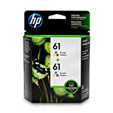 HP 61 Tri-color Ink Cartridge (CH562WN), 2 Ink Cartridges (CZ074FN) for HP Deskjet 1000 1010 1012 1050 1051 1055 1056 1510 1512 1514 1051 2050 2510 2512 2514 2540 2541