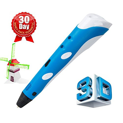 3D Printing Pen, Glyby Intelligent 3D Drawing Doodle Art with 1.75mm ABS Filament Refill (Blue)