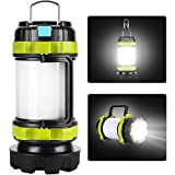 Camping Lantern Rechargeable, Lantern Flashlight LED with 800LM,6Light Modes,3800mAh Power Bank, IPX4 Waterproof,Perfect for Camping Light Hurricane,Emergency,Hiking,Outdoor,USB Cable Included (white)