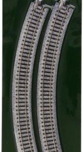 Kato USA Model Train Products Unitrack, 315mm (12 3/8″) Radius 45-Degree Curve Track (4-Piece) 41xccvpBKoL