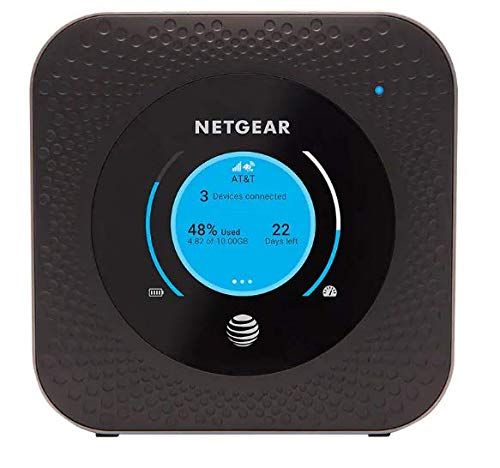 Netgear Nighthawk MR1100 4G LTE Mobile Hotspot Router (AT&T GSM Unlocked)(Steel Gray)