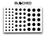 BLOCKED Webcam/Camera Vinyl Covers | 57 Low-Tack Reusable Webcam Sticker | 3-Sizes | Black