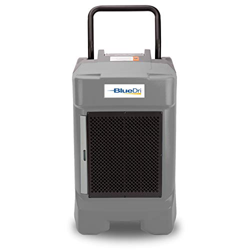 BlueDri BD-130P 225PPD Industrial Commercial Dehumidifier with Hose for Basements in Homes and Job Sites, Grey