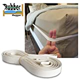 The Rubber Hugger - The Bed Sheet Holder Band - New Approach for Keeping Your Sheets On Your Mattress - No Sheet Straps, Sheet Clips, Grippers, or Fasteners. (Medium Size for Queen Mattress)