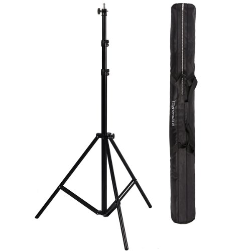 Ravelli ALS Full 10′ Air Cushioned Light Stand With Included Adaptor To Also Support 1/4″ and 3/8″ Photo Equipment and Heavy Duty Carry Bag