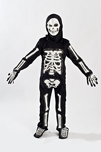 MONIKA FASHION WORLD Skeleton Costume for Boys Kids Light up