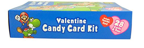 Super Mario Valentine S Day Candy Card Exchange Kit 28 Count