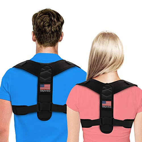 5e32f6df8a2a4 Truweo Posture Corrector For Men And Women - USA Designed Upper Back Brace  For Clavicle Support