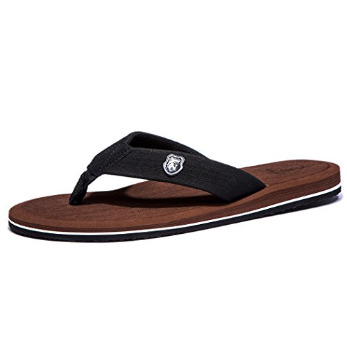 NeedBo NDB Men's Classical Comfortable Flip-Flop II (9 D(M) US / 43 M EU, Brown)