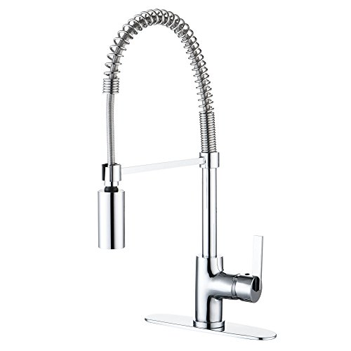 Enzo Rodi ERF7209251CP-10 Modern Commercial Kitchen Faucet With Pull-Down Sprayer,Polished Chrome