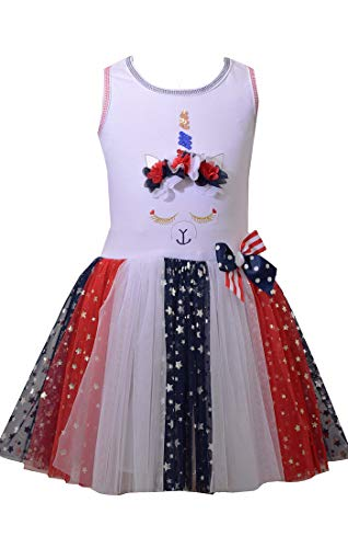 Bonnie Jean Girl's 4th of July Dress - Unicorn Americana Dress (5)