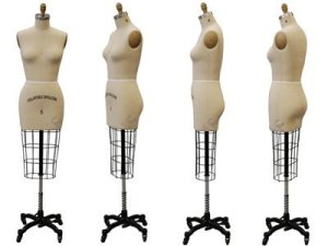 (ST-SIZE6+One Free Arm) Model #601 Professional Female half Body Dress Forms For Dressmaker Collapsible Shoulder With One Free Arm. Size 6