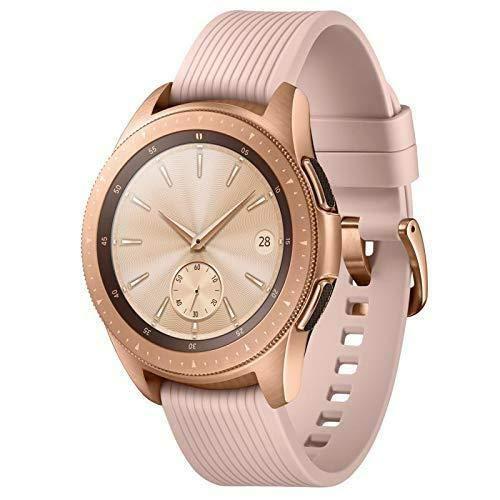 Samsung Galaxy Watch (42mm) Smartwatch (Bluetooth) Android/iOS Compatible -SM-R810 – Intenational Version -No Warranty … (Rose Gold)