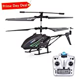 RC Helicopter, Remote Control Helicopter with Gyro and LED Light 3.5HZ Channel Alloy Mini Helicopter Remote Control for Kids & Adult Indoor Outdoor Micro RC Helicopter, Helicopter Toy for Kids