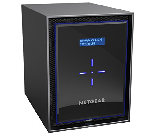 NETGEAR ReadyNAS RN426 6 Bay Diskless High Performance NAS, 60TB Capacity Network Attached Storage, Intel 2.1GHz Quad Core Processor, 4GB RAM, (RN42600)