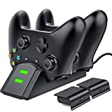 Xbox One Controller Charger, BEBONCOOL Dual Xbox Controller Charging Station with 2X 800mAh Rechargeable Battery Packs for Xbox One/One S/One X/Xbox Elite Controller