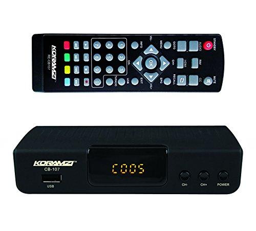 KORAMZI HDTV Digital TV Converter Box ATSC with USB Input for Recording and Media Player CB-107