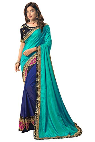 Granthva Fab Women's Silk Saree with Blouse Piece (GF-3042, Multicolor) TODAY OFFER ON AMAZON