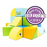 Itty Bitty City – Magnetic Wooden Blocks Set, 30 Pcs; Dr. Toy's 2018 Best Picks Award Winner, Screen-Free Activities for Kids, Montessori & STEM Learning, Quiet Activity for 3 to 5 Year Olds