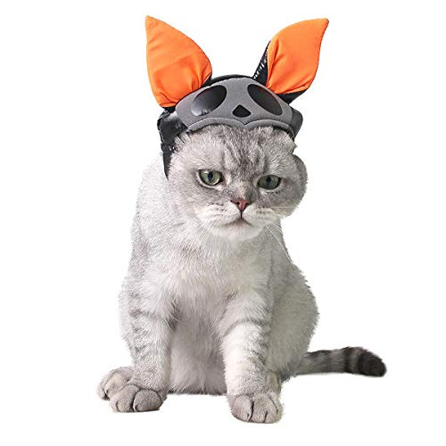 Homiego Halloween Cat Witch Hat Pet Wizard Headwear Cats & Small Dogs Party Costume Free Size 1