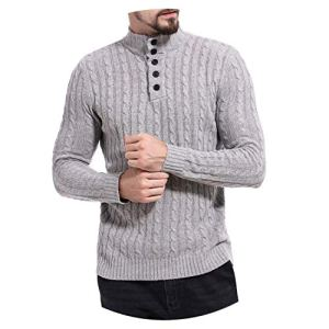 Winter Men's Sweater Men Turtleneck Striped Casual Sweater Men's Slim Fit Knitted Pullovers