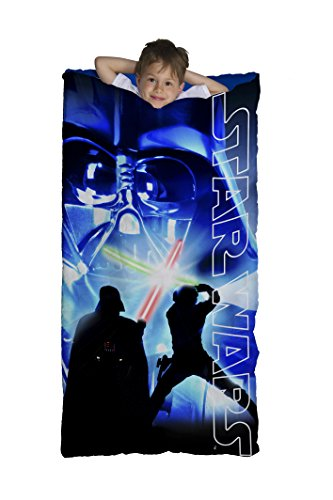 Jay Franco Star Wars Classic Slumberbag, Darth Saber Blue