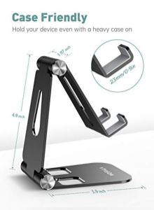 Adjustable-Cell-Phone-Stand-WOFALA-Aluminum-Alloy-Desktop-Cellphone-Stand-Cradle-Dock-Holder-Compatible-with-iPhoneAndroidiPadKindleTablet