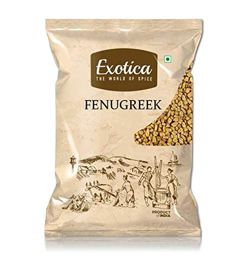 41yZiawlAWL - Exotica Fresh / Natural Dried Fenugreek Seeds | Whole Methi Dana Seeds | Indian Spices & Masala (400 g)