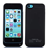 Battery Case for iPhone SE 5SE 5 5S,4200mAh Ultra Slim Portable Charging Case Charger Case Rechargeable Extended Battery Pack Protective Charger Case-Black