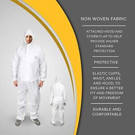 2-Pack-X-Large-Disposable-Coveralls-with-Hood-Protective-Suit-Microporous-White-Elastic-Wrist-2-X-Large