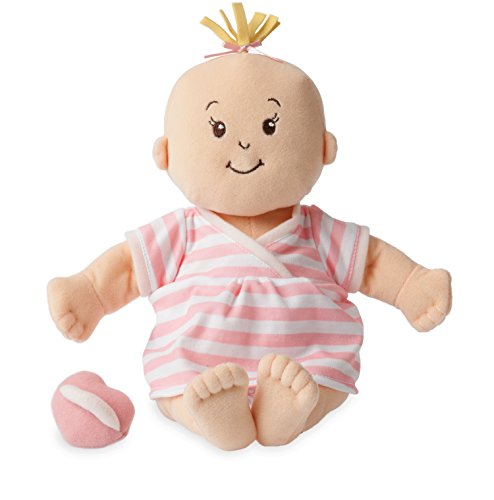 Manhattan Toy Baby Stella Peach Soft First Baby Doll for Ages 1 Year and Up, 15'
