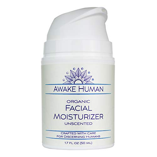 Organic Face Moisturizer, Unscented Natural Face Cream for...