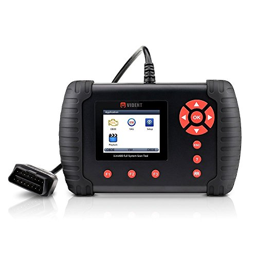 VIDENT iLINK400 Multi-System Scan Tool for VOLVO Automotive Full System Code Reader OBDII ABS, SRS, Engine, Transmission etc with Service Light Reset Functions